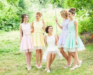 bridal promo bride on swing