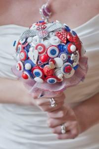 I heart Buttons Bouquets Brit Chic Bouquet