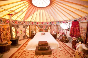 Luxury bedroom yurt