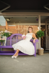 Betty Blossom wedding dress, £395 available exclusively at kittyandulcie.com Hair accessory floandpercy.com 00146