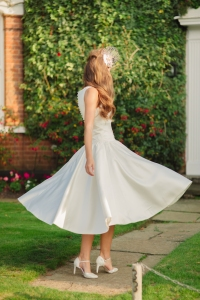 Sweet Audrey wedding dress, £350 available exclusively at kittyanddulcie.com Hair accessory from floandpercy.com 00228 (1)