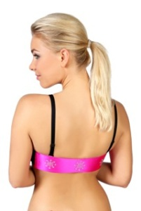 Wild Parsley Multiback Bra-Pink Silk Crystal Snowflake Band no clothing