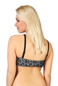 Wild Parsley Multiback Bra-White Silk Black Lace Band no clothing